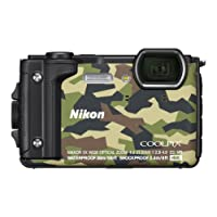 Nikon Coolpix W300 Fotocamera Digitale Compatta, 16 Megapixel, 4K, Subacquea, Antiurto e Antigelo, Mimetico