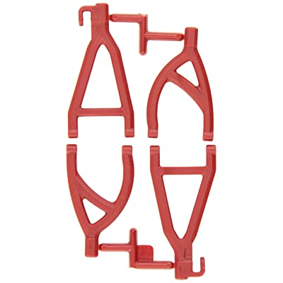 RPM 80609 Rear Upper/Lower A-Arms Red 1/16 E-Revo Red: Toys & Games