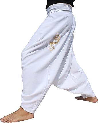 RaanPahMuang Brand Thicker Muang Cotton Side Pullstring Baggy Mao ...