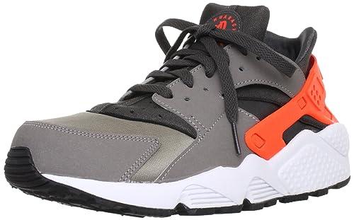Nike Mens Air Huarache Grey and Orange Trainer Size 7 UK
