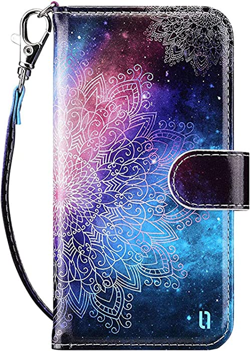 ULAK iPod Touch 7 Wallet Case, iPod Touch 6 Case with Card Holder, Premium PU Leather Magnetic Closure Protective Folio Cover for iPod Touch 7th/6th/5th Generation, Mandala Floral
