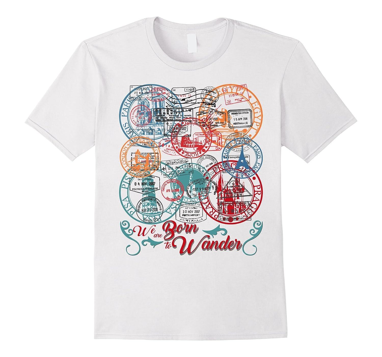 Passport Tags Wanderlust Traveler T-Shirt-Vaci