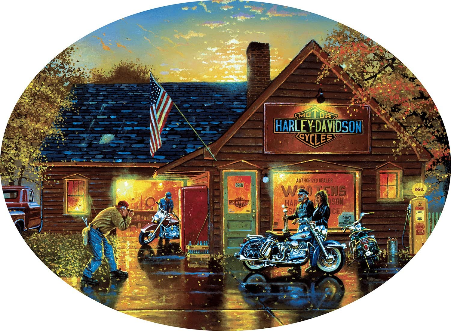 Cameo Collection Picture Perfect Harley-Davidson 750 Pieces Jigsaw Puzzle