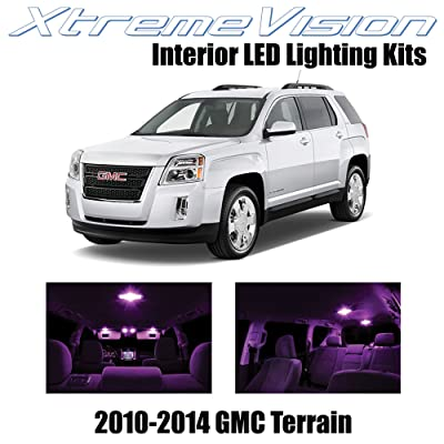 XtremeVision Interior LED for GMC Terrain 2010-2014 (5 Pieces) Pink Interior LED Kit + Installation Tool: Automotive