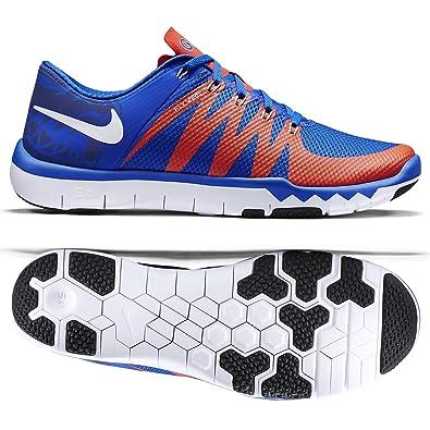 nike free run trainer 5.0 orange and blue