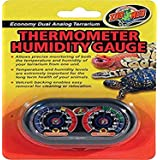 """Zoo Med Economy Analog Dual Thermometer and Humidity Gauge, 6 x 4"""""""