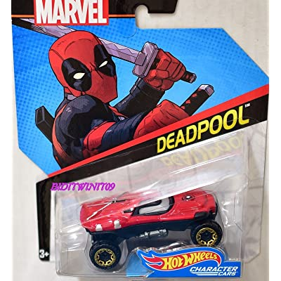 Hot Wheels Marvel Character Cars Deadpool Die-Cast Car: Toys & Games