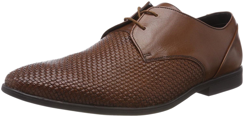 Clarks Bampton Weave, Zapatos de Cordones Derby para Hombre 41.5 EU|Marrón (Tan Leather)