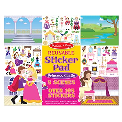 Melissa & Doug Princess Castle Reusable Sticker Pad: Melissa & Doug: Toys & Games