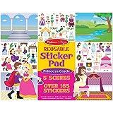 Melissa & Doug Reusable Sticker Pad: Princess Castle (200+ Stickers and 5 Scenes)