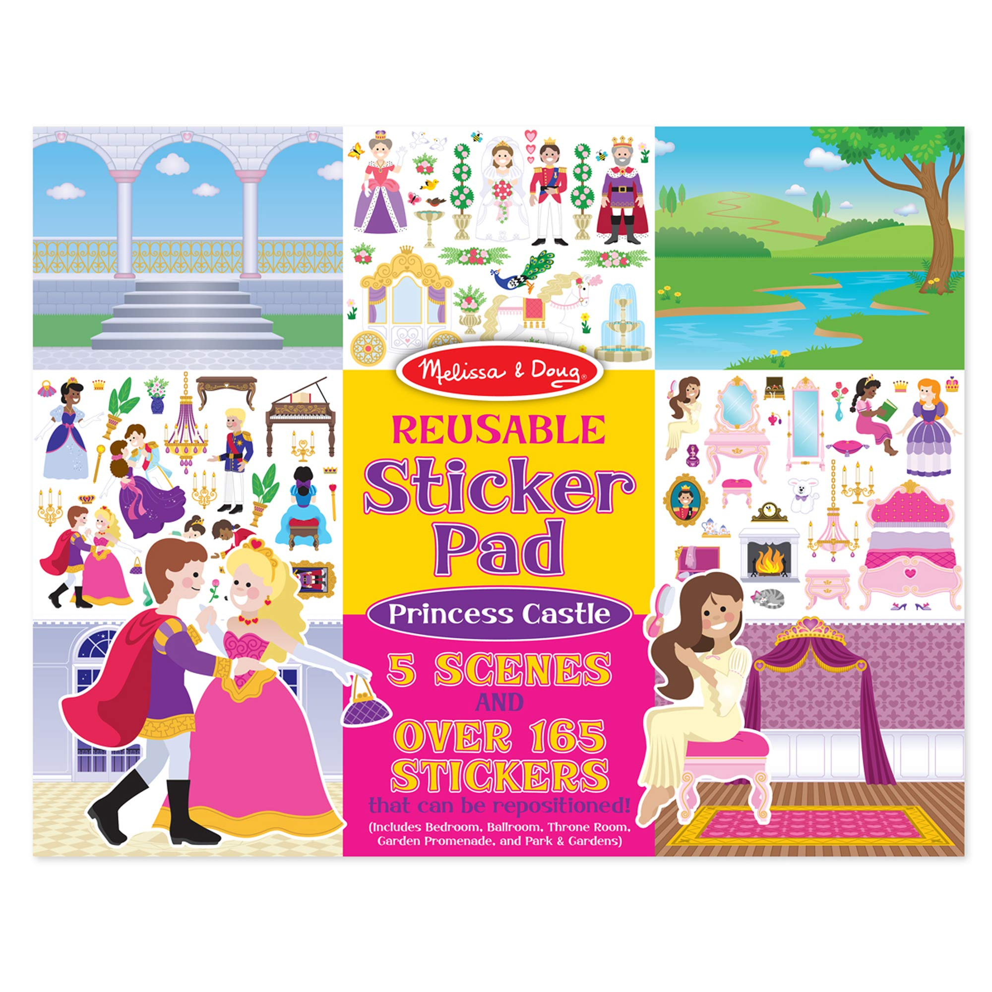 Melissa & Doug Princess Castle Reusable Sticker Pad