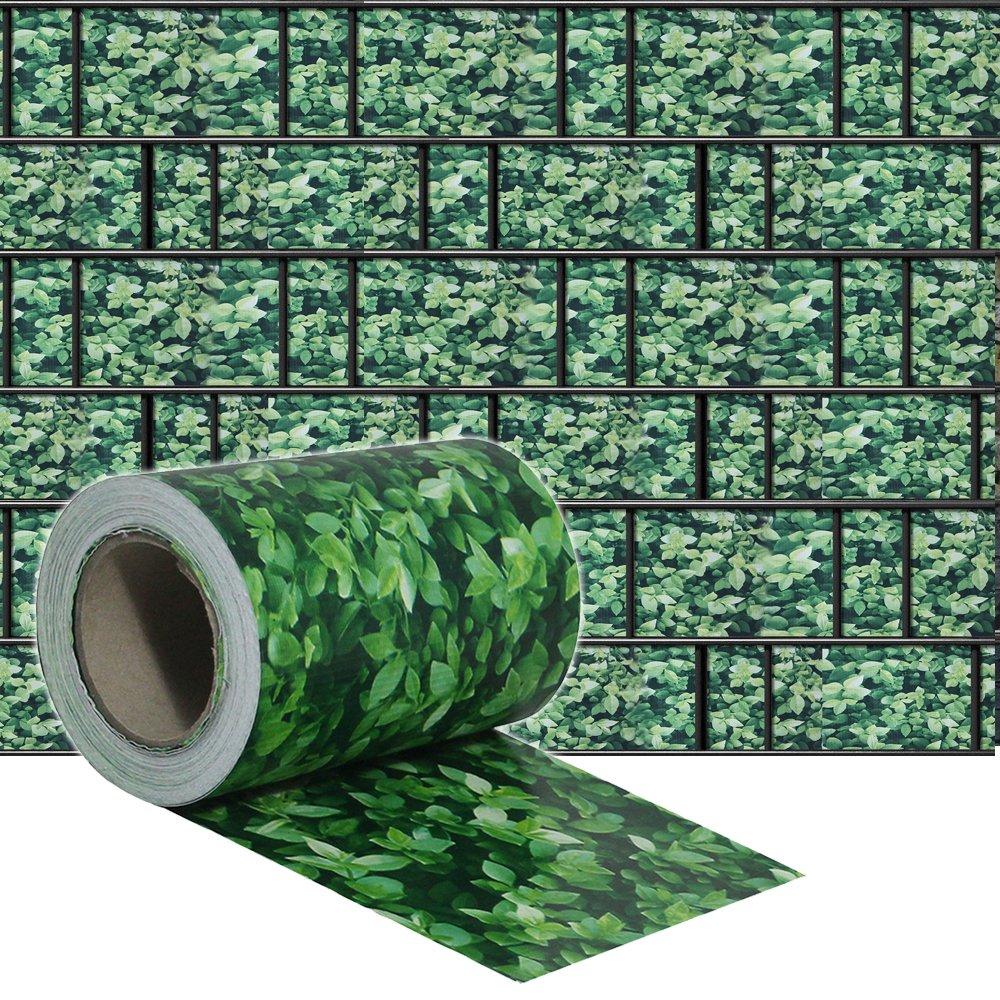 SAILUN 35m x 19cm + 20 strisce Fascette Visione protezione PVC Paravista Frangivento Oscurante Protezione per giardini e steccati Recinzione, design le foglie