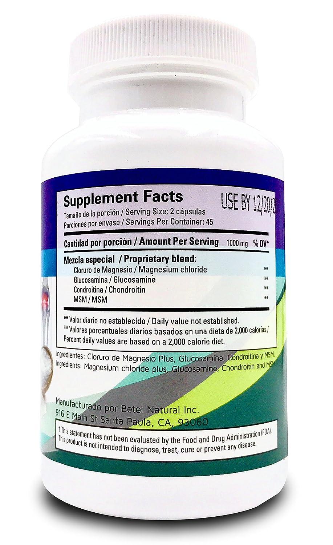Amazon.com: Magnesium Chloride Plus 90 Capsules - Cloruro De Magnesio Plus 90 Capsulas: Health & Personal Care