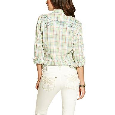 e46bb24f Ariat Womens Highway Plaid Snap Shirt XS R Multi at Amazon Women's Clothing  store: