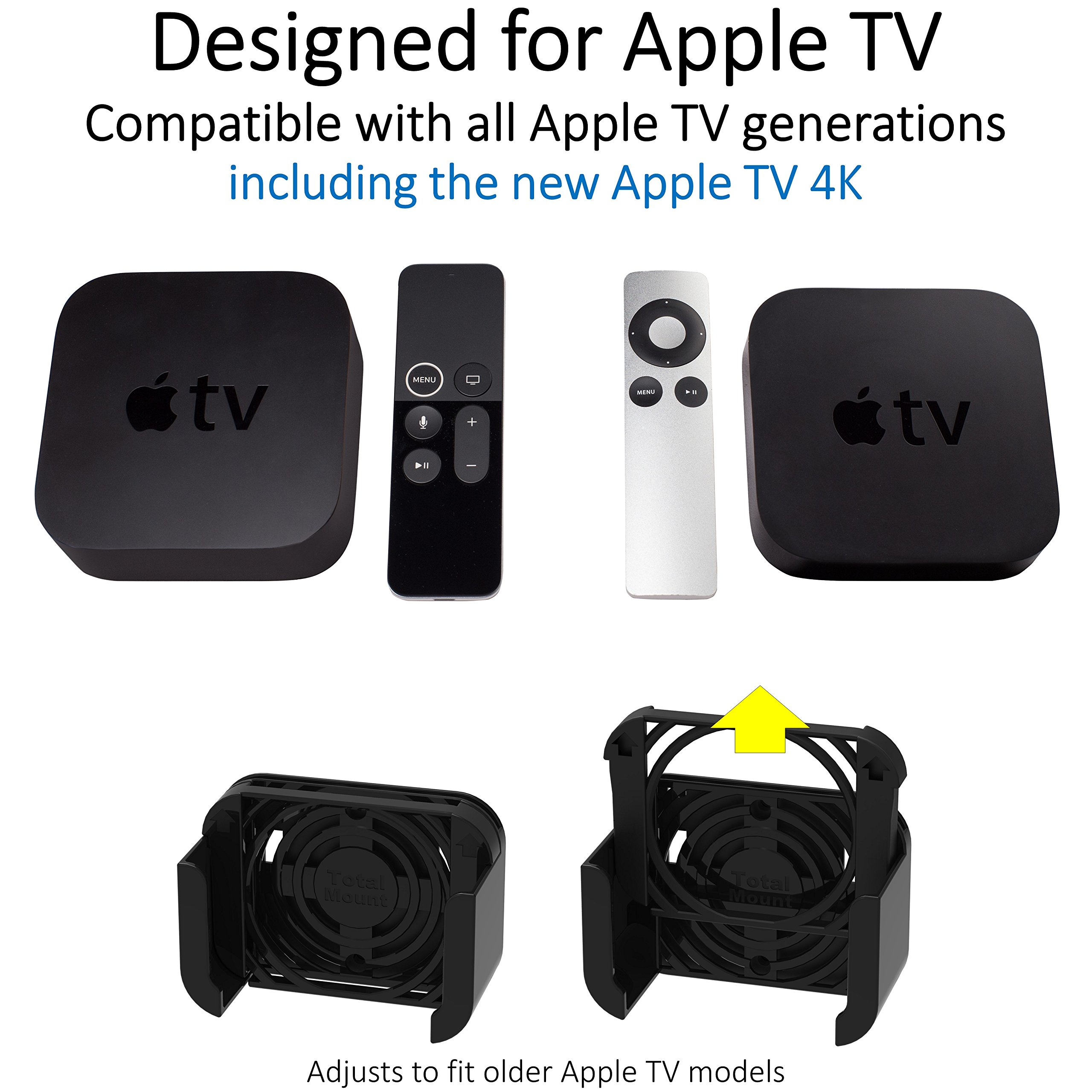 TotalMount Apple TV Mount - Compatible with all Apple TVs including Apple TV 4K by TotalMount (Image #4)