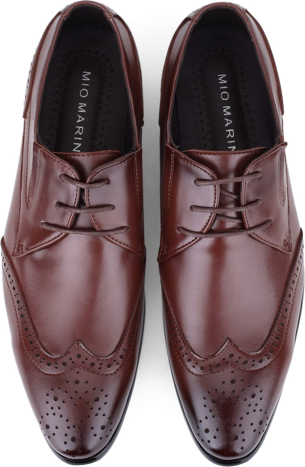 Elegdy Business Formal Oxford for Men Genuine Leather Lace up British Style Wedding Dress Pointed Toe Shoes