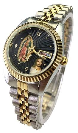 Reloj de Mujer Swanson Japan Wonens Tow-Tone Day-Date Con La Virgen de