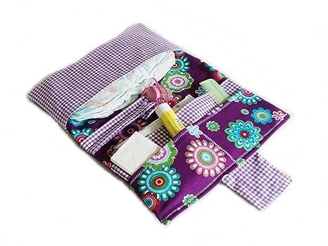 Bolso portapañales perfecto para el paseo. Porta pañales, capacidad para tres pañales, toallitas