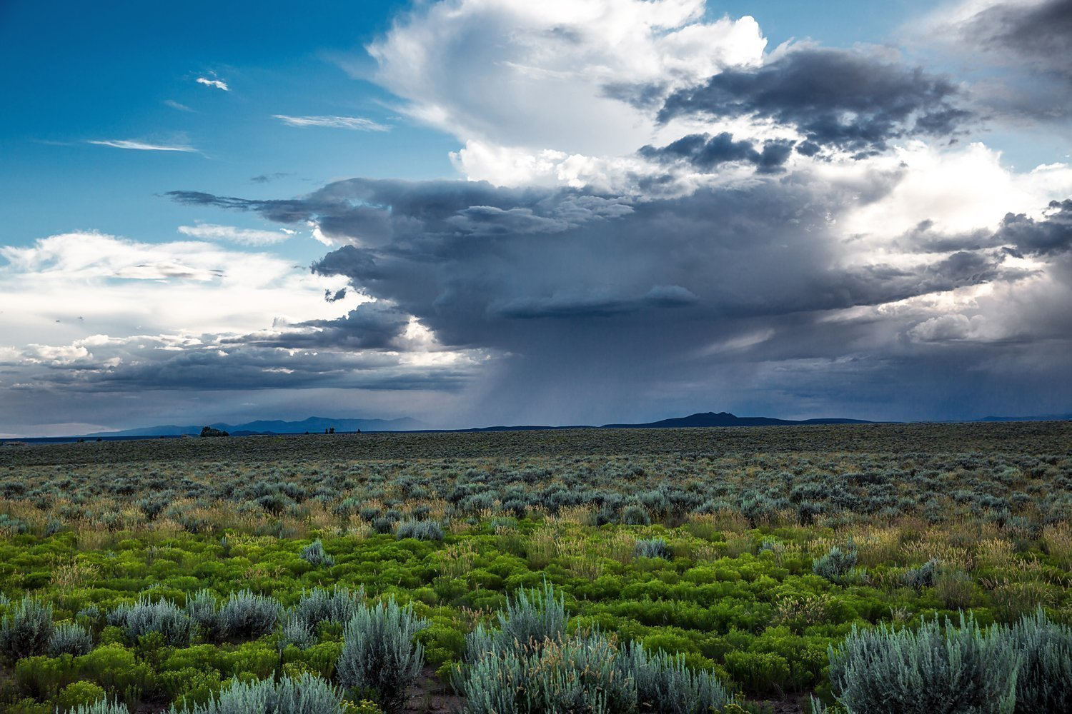 New Mexico Photography Art Print - Picture of Summer Thunderstorm Near Taos Monsoon Desert Decor for Home Decoration 5x7 to 30x45
