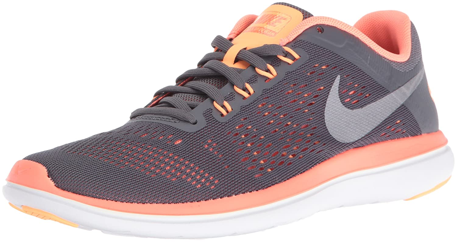 NIKE Women's Flex 2016 Rn Running Shoes B01CJ2RUZ4 7 B(M) US|Dark Grey/Metallic Cool Grey/Bright Mango