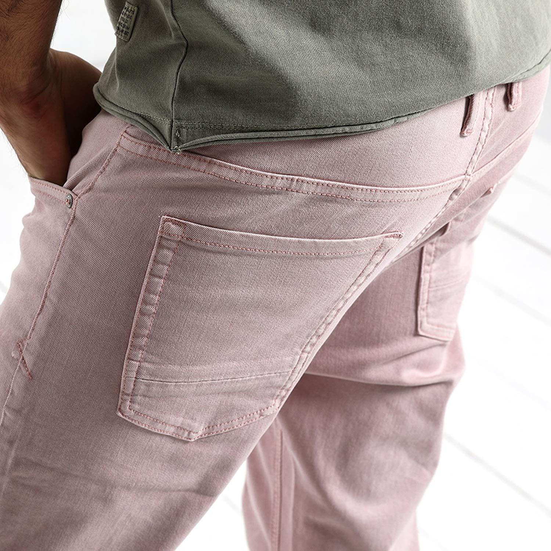 Glittering time 2019 Spring Summer New Jeans Men,Pink,34