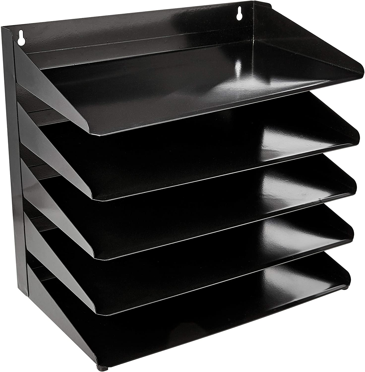 "AmazonBasics 5 Tier Metal Office Document Organizer Tray, 13"" x 9"" x 13"""