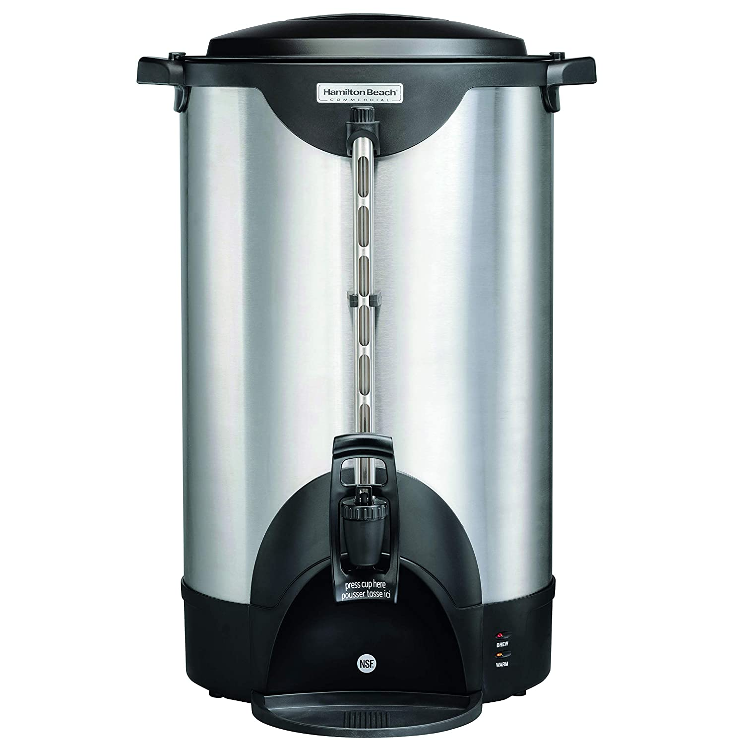 Hamilton Beach Commercial 100 Cup Stainless Steel Coffee Urn (HCU100S), Double Wall, 120V