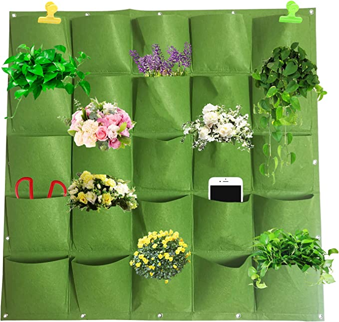 Details about  /7 Pockets Wall Hanging Planting Bag Vertical Planter Flower Herb Growing