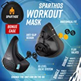 Sparthos Training Mask High Altitude Mask - for Gym Workouts, Running, Cycling, Elevation, Cardio - Fitness Training Mask - Hypoxic Resistance o2 2 3 - Lung Breathing Exercise