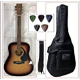 Yamaha F310, Dreadnought Acoustic Guitar With Sponge Bag, Belt & Plectrums Combo Pack.(TSB)