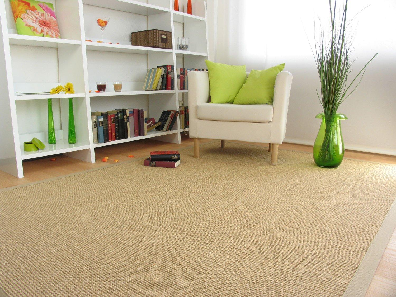 Astra Sisal Teppich Manaus mit Bordüre Farbe chablis beige 100% Sisal - 18 Größen, Größe  140x200 cm