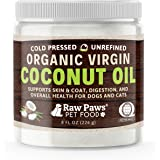 Raw Paws Organic Virgin Coconut Oil for Dogs & Cats, 8-oz - Supports Immune System, Digestion, Oral Health, Thyroid - All Nat