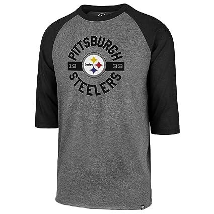 a9f0cd2b '47 Pittsburgh Steelers NFL Roundabout Club 3/4 Raglan T-Shirt - Medium
