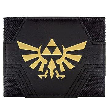 9d355b3cda303 Nintendo Zelda Texturé Or Triforce Noir Portefeuille: Amazon.fr: Bagages