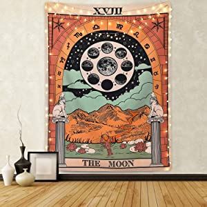 Sevenstars Tarot Tapestry The Star Tapestry Medieval Europe Divination Tapestry Wall Hanging Mysterious Tapestries for Room