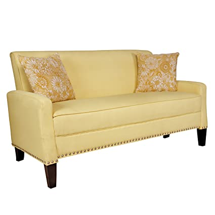 Angelo:HOME Sutton Sofa, Washed Buttercream Yellow