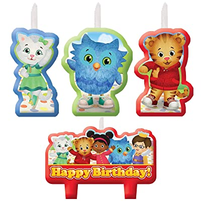 amscan Candle Set | Daniel Tiger's Neighborhood | Birthday, Multicolor: Toys & Games