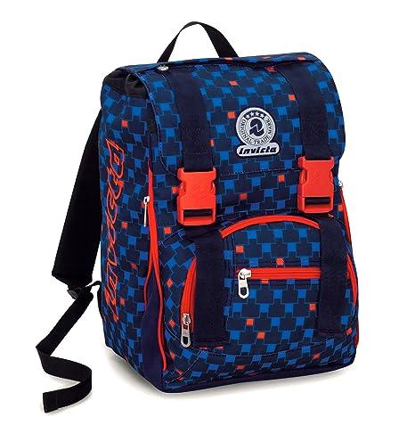 rivenditore online d87fe 7a071 Zaino Scuola Estensibile Invicta , CHECK , Blu Rosso , 28 Lt , elementari e  medie