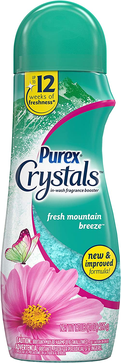 Purex Crystals in-Wash Fragrance and Scent Booster, Fresh Mountain Breeze, 21 Ounce