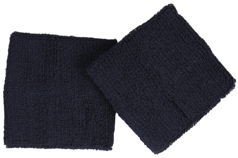 bleu marine Couleur Poignet eponge en Lot de 2 Serre-Poignet