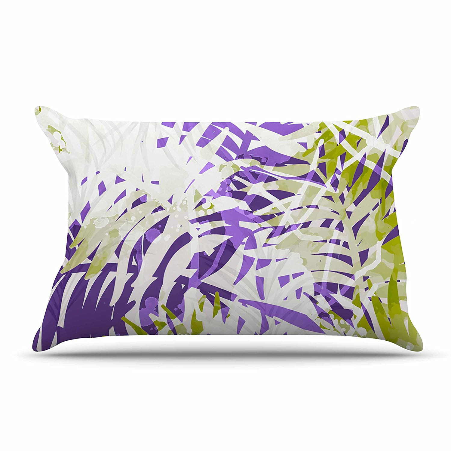 Kess InHouse Carol Schiff Four Seasons-Spring Lavender Green Painting Throw 80 x 60 Fleece Blanket