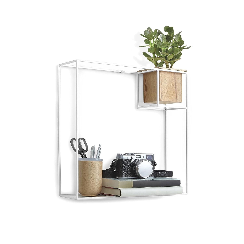 concrete small bracket shelf wild and wood grey