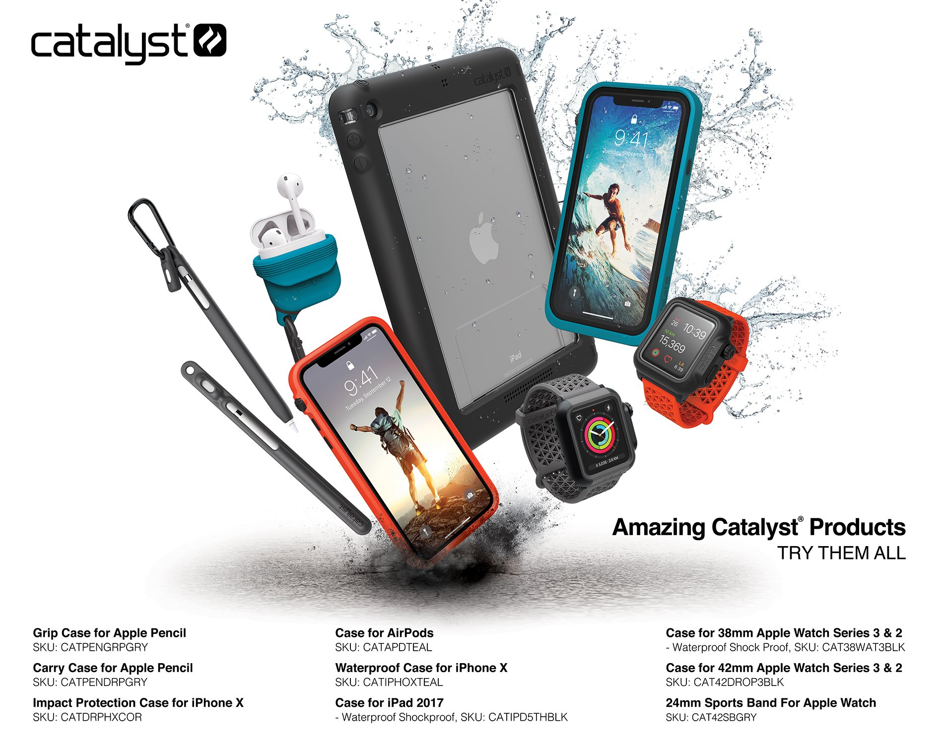Catalyst iPhone 6 Plus Case Waterproof Impact Protection, High Touch Sensitivity ID, Military Grade Drop and Shock Proof Premium Material Quality, Slim Design, Black and Space Gray by Catalyst