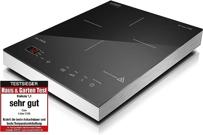 Caso S-Line 2100 - Placa de inducción portátil de un fuego: Amazon ...