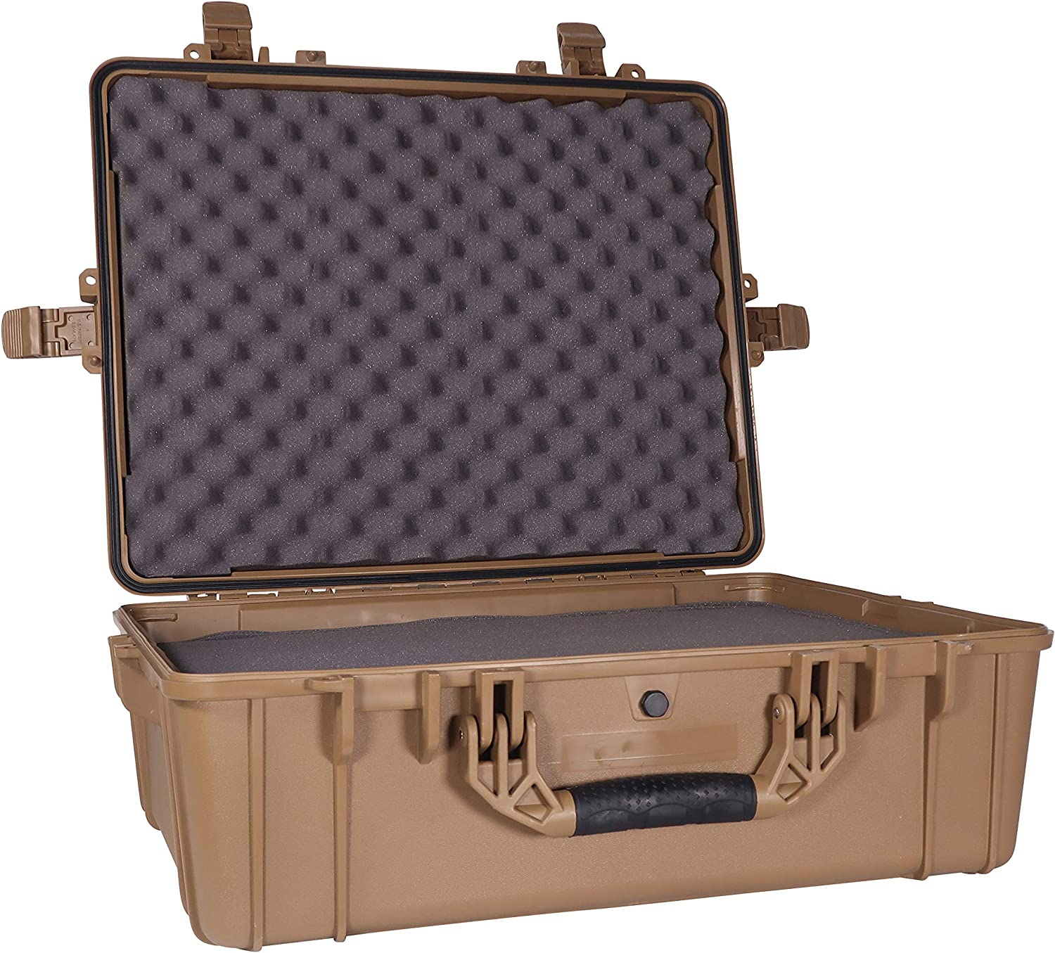 """Condition 1 25"""" XL Waterproof Protective Hard Case, Flat Dark Earth - 25"""" x 20"""" x 8"""" #839 IP67 Watertight Dust Proof and Shock Proof TSA Approved Portable Trunk Carrier"""