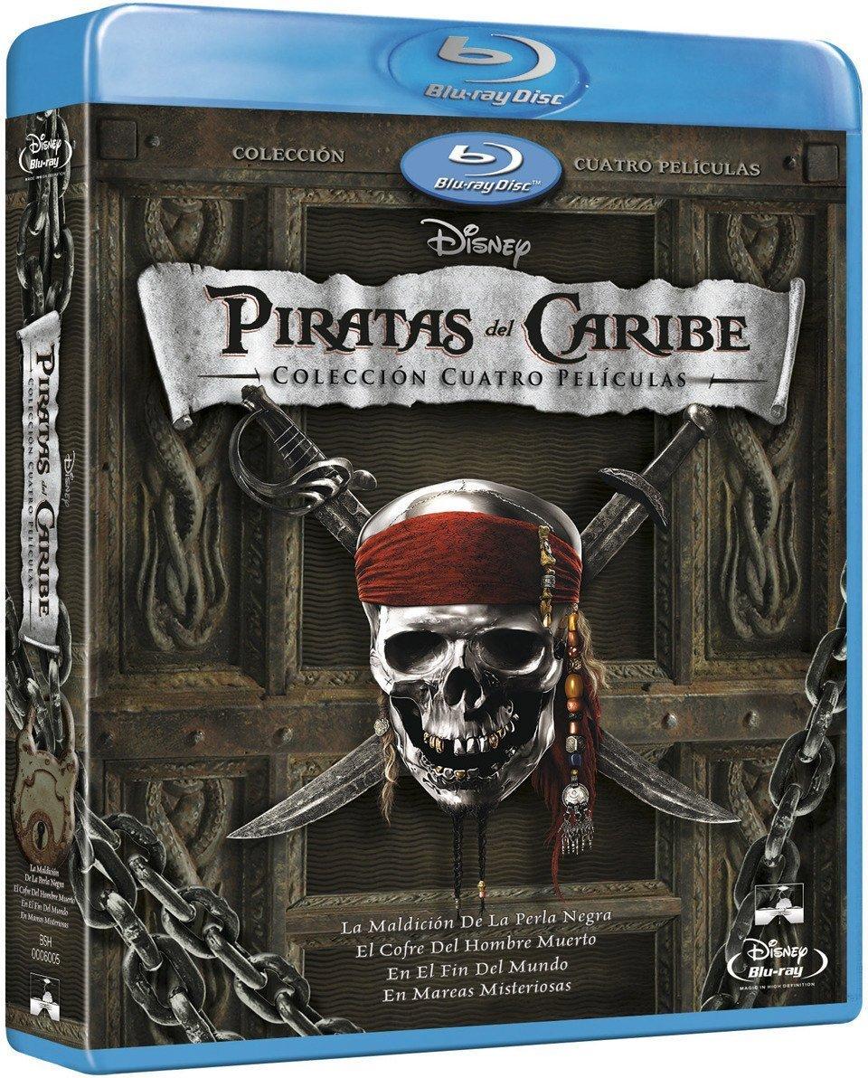 Pack: Piratas Del Caribe 1-4 + Bonus [Blu-ray]: Amazon.es: Johnny Depp, Jeoffrey Rush, Orlando Bloom, Kira Knightley, Johnny Depp, Jeoffrey Rush: Cine y Series TV