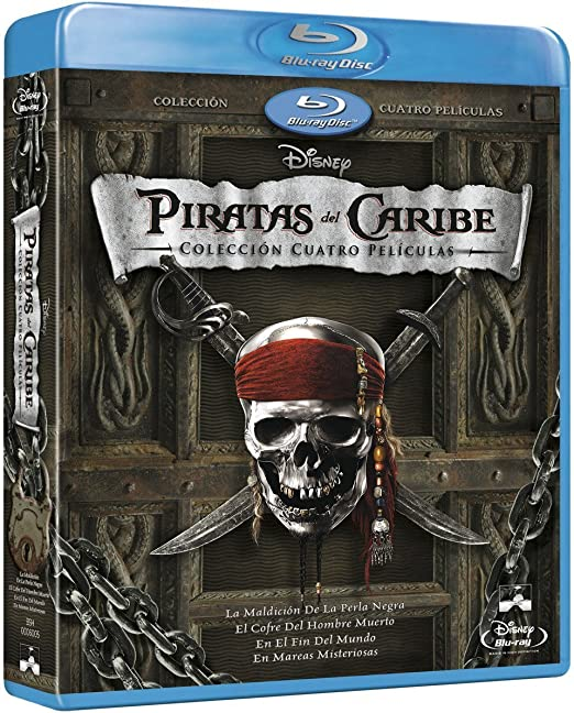 Pack: Piratas Del Caribe 1-4 + Bonus [Blu-ray]: Amazon.es: Johnny ...