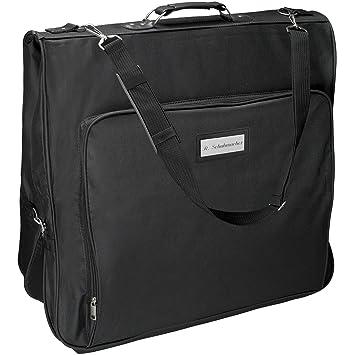 80df373b5d8b Cadenis Business Kleidersack mit Laser-Gravur aus strapazierfähiger  Mikrofaser schwarz 110 cm - Platz für mehrere Anzüge auf Geschäftsreisen