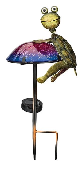 Regal Art U0026 Gift 11799 Mushroom Critters Stake Solar Light Garden Decor,  Turtle