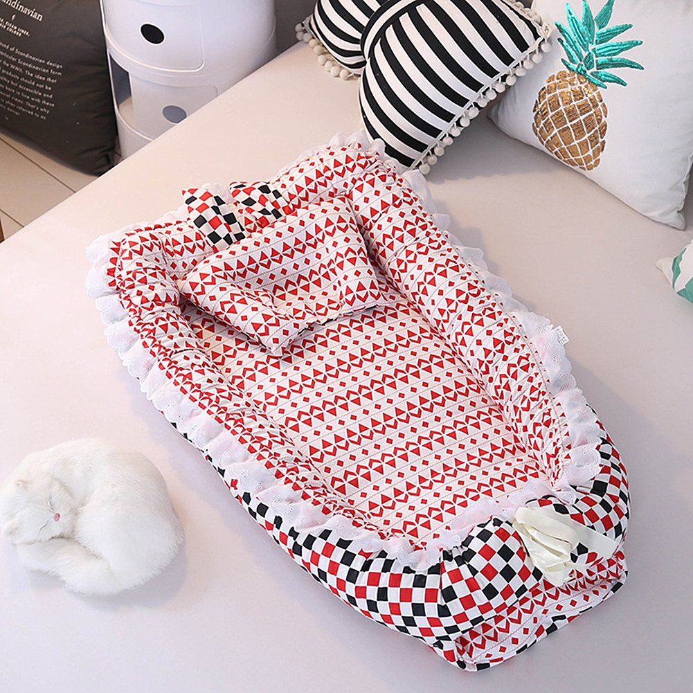 Ukeler Baby Newborn and Infant Lounger with Portable Bassinet, Baby Nest for Cosleeping, Tummy Time and Lounging. Super Soft and Breathable